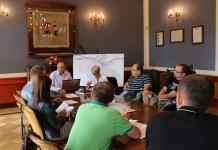 2015-07-29 Kolejne spotkanie rowerzystów z władzami miasta. Są pierwsze efekty @Ratusz, Urząd Miejski (fot. A. Błaszczyk)Zespół ds. Rozwoju Ścieżek Rowerowych