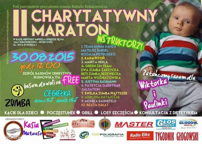 2015-08-26 II Maraton Charytatywny dla Wiktora i Pauliny @MCWR plakat