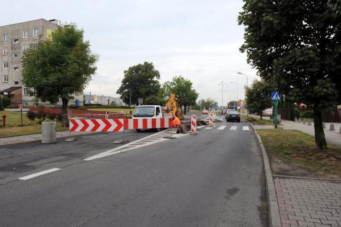 2015-09-15 Ulica Dąbrowskieho w remoncie @Polkowice (fot. UG Polkowice)