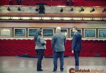 Wizyta głogowskiego prezydenta Rafaela Rokaszewicza we wrocławski teatrze Capitol