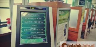 Miedziak.info.pl ZUS sala obsługi klienta automat stanowisko