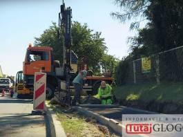 TutajGLOGOW.pl Głogów ul. Rudnowska remont drogi prace budowlane drogowe robotnicy