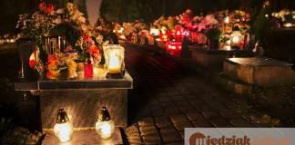 Miedziak.info.pl cmentarz groby znicze święto zmarłych zaduszki