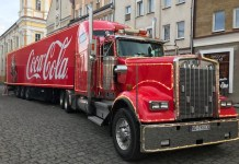 świąteczna ciężarówka coca-cola Głogów