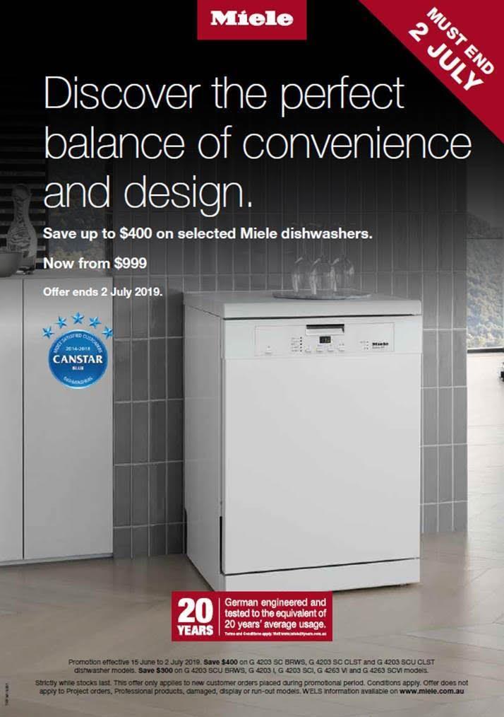 Miele Dishwasher Promotion