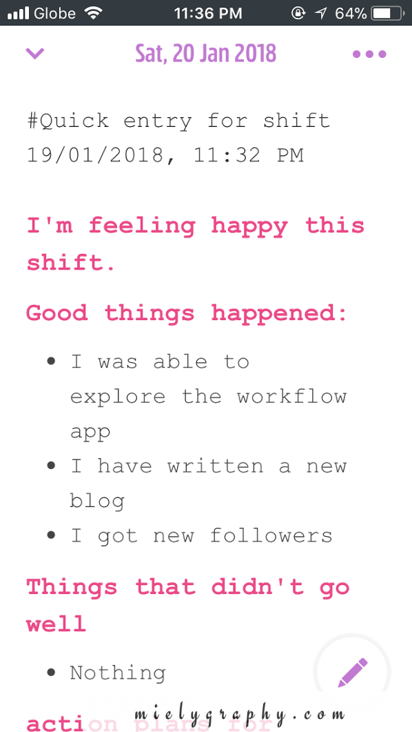 Workflow App just stopped me from ditching my Day One App.
