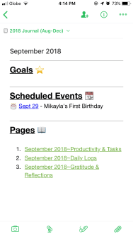 Main Page Evernote Bullet Journal Templates
