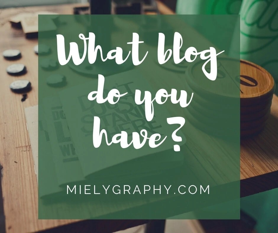 What kind of blog do you have?