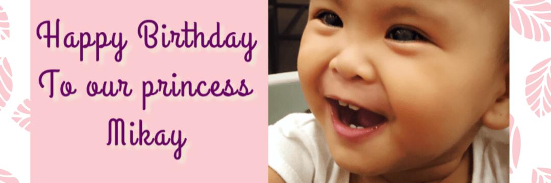 Mikayla's first birthday
