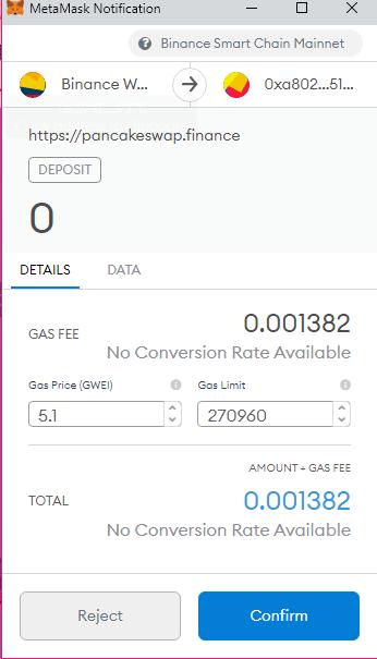 customizing gas fees with MetaMask