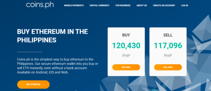 Buying and Selling Price of Ethereum with CoinsPH