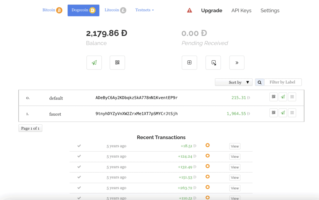 my old wallet for DOGE that I can no longer access due to lost pin. It used to have less than a dollar value, but it reached 70K PHP in value during the hype. So who knows what happens rigth?
