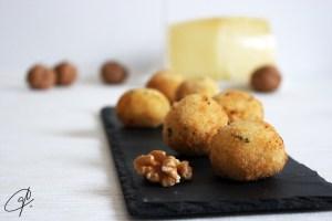 Croquetas de queso con nueces 1