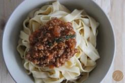 Fettuccini bolognesa 3
