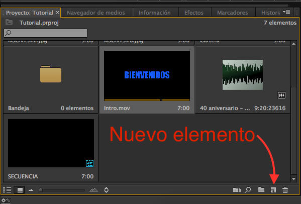 Secuencias, Tutorial Adobe Premier Pro
