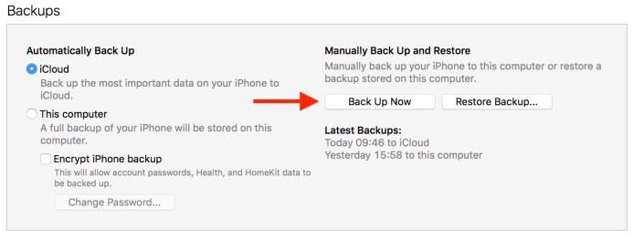 Esacpe Digital -Backup-iPhone-in-iTunes