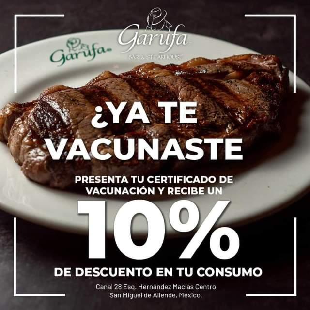 ¿Ya estás vacunado? Podrás recibir descuento en restaurantes