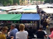 Blick über den Markt am Wilhelmplatz