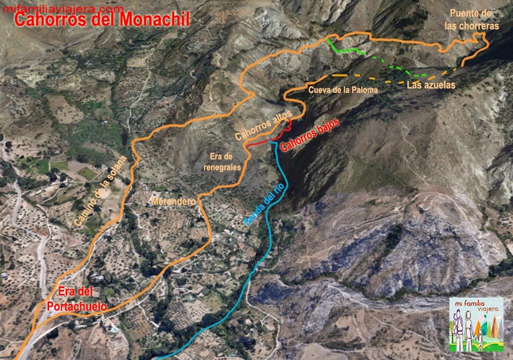 Los Cahorros Monachil Mapa.Cahorros De Monachil Con Ninos Un Paraje Espectacular En Sierra Nevada