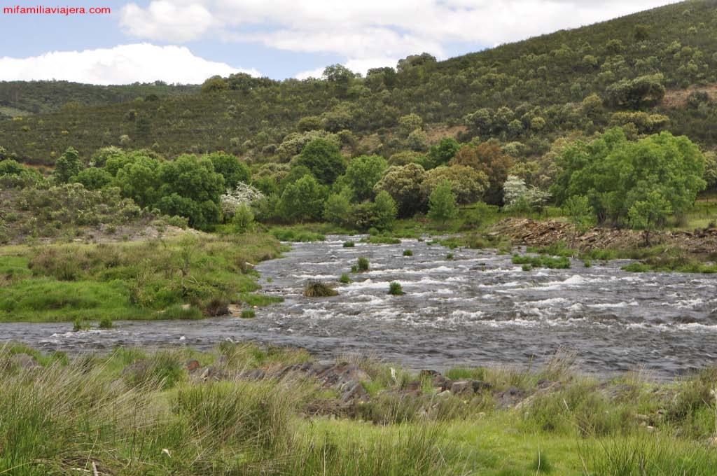 Desembocadura del Río Cuerpo de Hombre en el Alagón