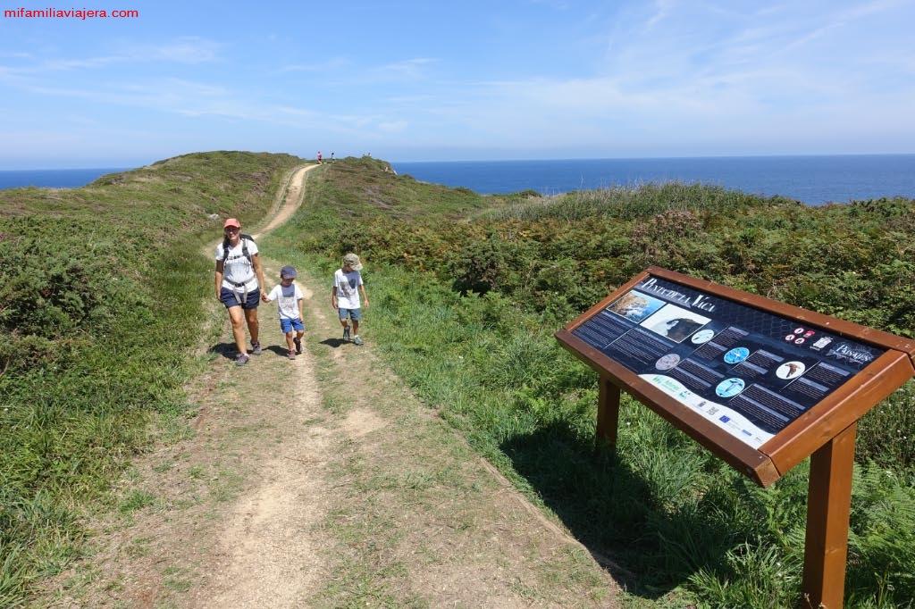 Carteles informativos de la Senda costera Luanco-Moniello-Bañugues