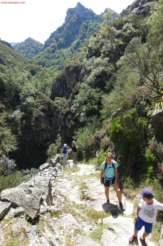 Ascenso hacia la pradera de El Collaín