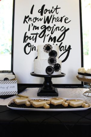 black-white-gold-graduation-party-via-karas-party-ideas-karaspartyideas-com25