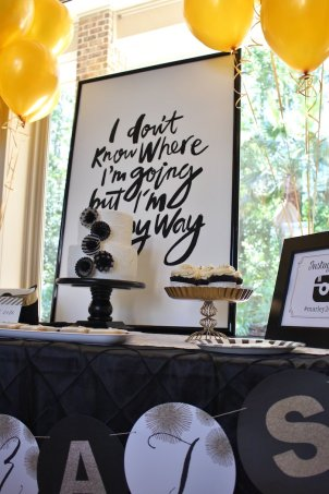 black-white-gold-graduation-party-via-karas-party-ideas-karaspartyideas-com30