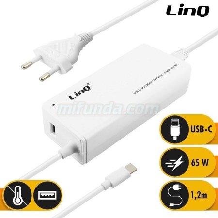 ✔CARGADOR DE RED ULTRA RAPIDO LinQ® TJ-281 DE 65W PD CON USB+CABLE TIPO C