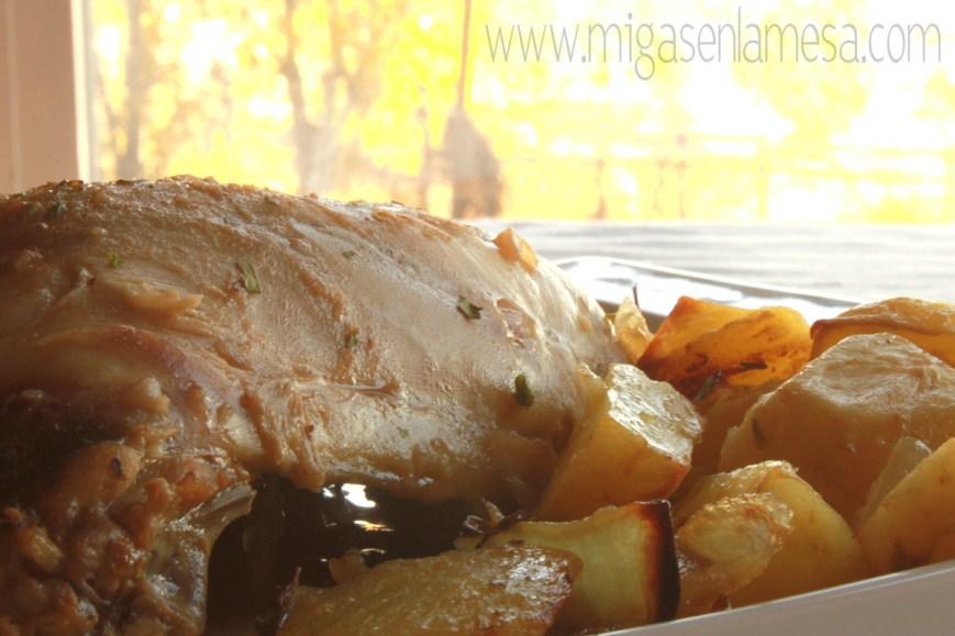 Pollo setas castañas 8