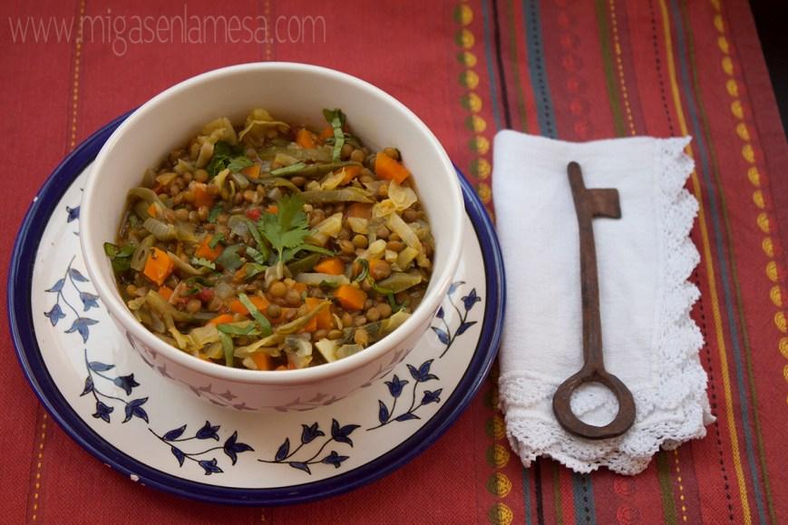 Lentejas curry 1