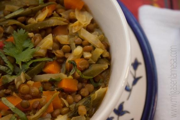 Lentejas curry 4