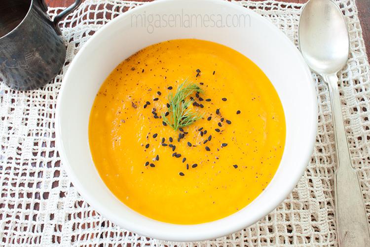 Crema hinojo zanahoria 2
