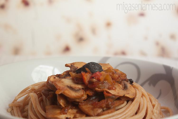 Spaghetti tomates asados 5