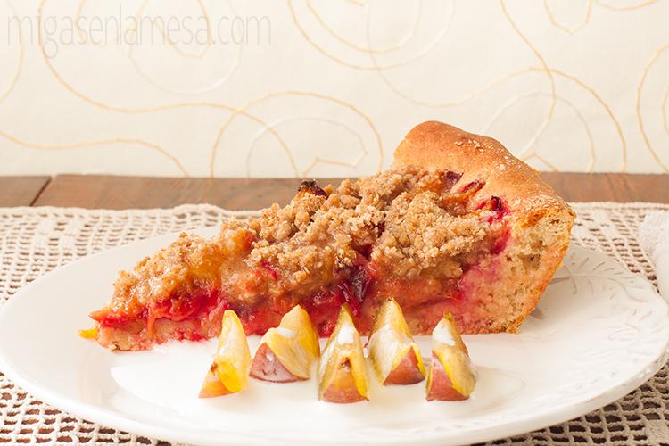 Pflaumenkuchen o tarta alemana de ciruelas