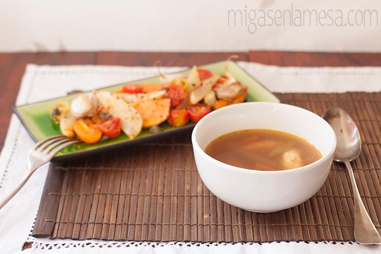 Dumplings en caldo de verdura, de Yotam Ottolenghi