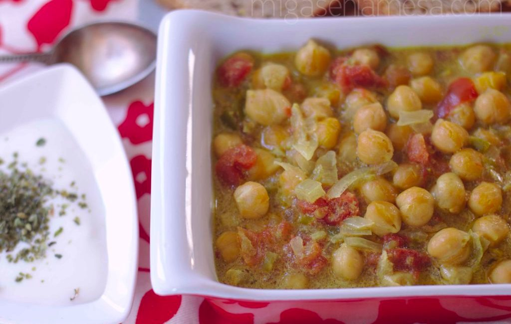 CURRY DE GARBANZOS EN CROCK POT [PON UNA AGENDA EN TU VIDA]