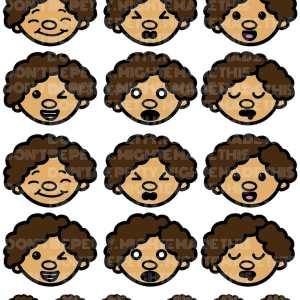 MightE Cute Mojis Sticker Set