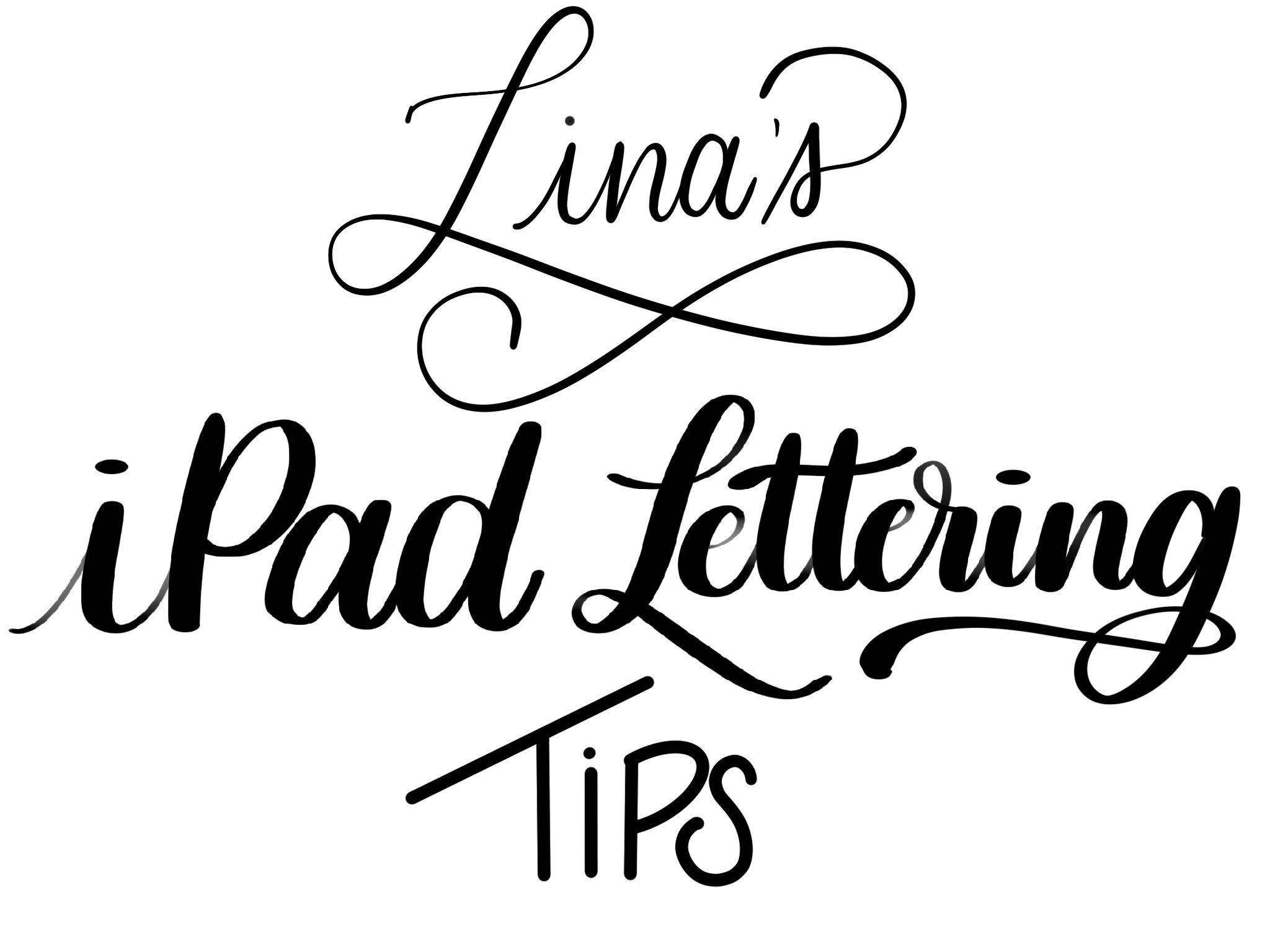 iPad Lettering Tips!