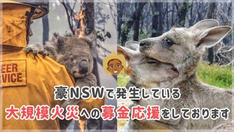 豪NSWで発生している大規模火災への募金応援をしております【ジェイさんツアー】