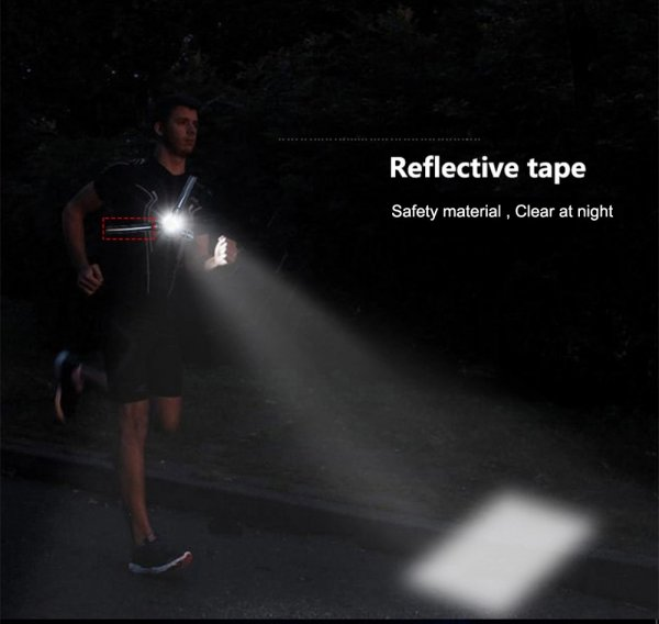 This is the joggers torch in use showing the typical beam pattern ahead of the runner.