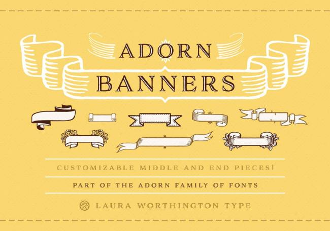 Marigold: Bundle of 8 Fabulous Hand-drawn Fonts from Laura Worthington
