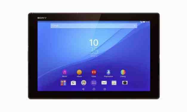 Sony announce Xperia Z4 Tablet