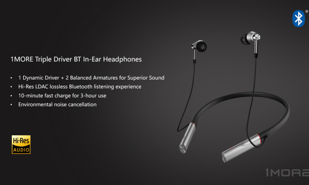 1MORE E1001BT Launched – Triple driver bluetooth in ear headphones