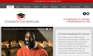 College Success Scholars web design
