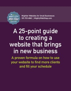 25-point guide to creating a website that brings in new business