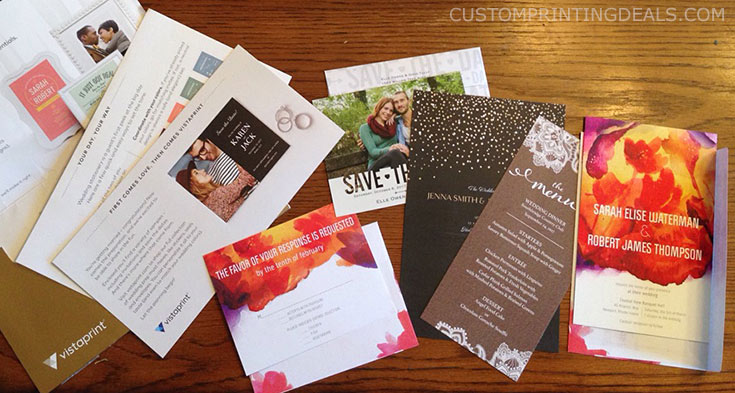 Avoid ordering the cheapest items on the site. Vistaprint Free Wedding Samples 3 Invitations Save The Dates