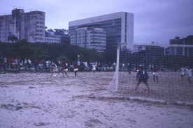 Futebol at Flamengo Beach on reclaimed land