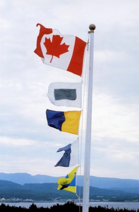 Lighthouse signal flags - Canada, S, K, A, D