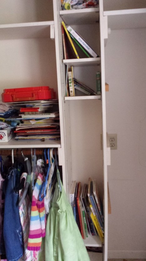 The kids' closet. I'm confident we could be using this space better.